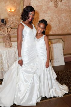 efa25586167 Flower Girls mini replicas of the brides dress
