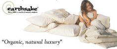 Earthsake's natural bedroom products made in the USA with American grown organic cotton, PureGrow Wool, & more