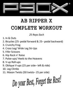 Ab Ripper X: I LOVE THIS ab workout!!! It works MORE than just your abs, It produces such amazing and FAST results. Little warning though: it is NOT for the faint of heart. It is intense!