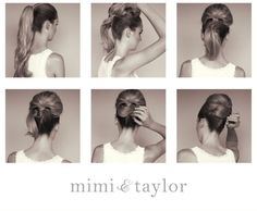 mimi & taylor: DIY- high chignon