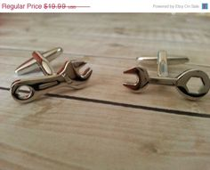 Thanksgiving Sale Unique Mechanic Cufflinks- Mens Cuff links, Wrench cufflinks, with a Gift Box - Gear head on Etsy, $17.99