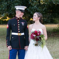 Real Bride Mary in a strapless sweetheart Oleg Cassini wedding gown. Photo via @weddingwire