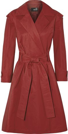 @theoutnet #Love #Moschino #Cotton #blend #Twill #Trench #Coat