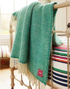 Blanket Jade Large Throws , Size One Size | Joules UK