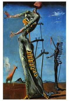 The Burning Giraffe | Dalí