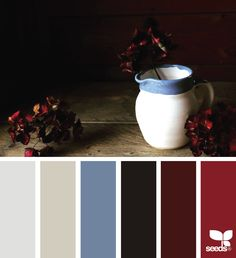 New Kitchen Colors Schemes Red Design Seeds 38 Ideas Bedroom Colour Schemes Warm, Bathroom Color Schemes, Kitchen Colour Schemes, Blue Color Schemes, Bedroom Paint Colors, Living Room Colors, Color Combos, Living Rooms, Color Concept