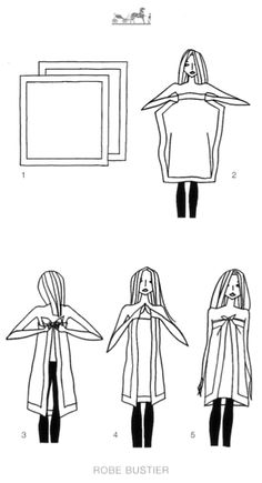 MaiTai's Picture Book: Scarf knotting cards - Vol II Scarf Dress, Knot Dress, Scarf Top, Diy Scarf, Diy Dress, Wrap Dress, Scarf Knots, Do It Yourself Fashion, Diy Tops