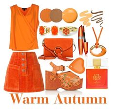 Warm Autumn by prettyyourworld on Polyvore featuring St. John, Rejina Pyo, Marc Jacobs, Tory Burch, Aspinal of London, Baccarat, Bling Jewelry, Guerlain, Sigma and Anastasia Beverly Hills