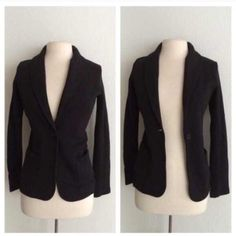 """James Perse blazer James Perse black blazer. Brand new with tags. Size 2 which is equivalent to a M. Measures 27"""" long with a 34"""" bust. 100% cotton. This blazer is pretty thick and has stretch to it. The front has a one button closure and two pockets. No tradesI am very open to fair offers! James Perse Jackets & Coats Blazers"""
