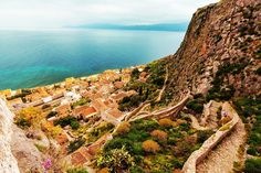 One of the most romantic places in Greece, Monemvasia is a medieval castle town, carved on the slopes of a rock off the eastern coast of the Peloponnese #Monemvasia #Peloponnese #Greece #Monterrasol #travel #privatetours #customizedtours #multidaytours #roadtrips #travelwithus #tour #nature #blue #sea #summer #beautiful #thisisgreece #tourism #destination #rock #walls #architecture #mountains #romantic #medieval #castle #town #slope #top #romance #beauty #love #life #outdoors #wanderlust… Travel Deals, Travel Guides, Places In Greece, Most Romantic Places, Top Destinations, Medieval Castle, Day Tours, Grand Canyon, Tourism