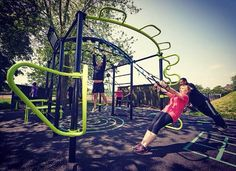 The Great Outdoor Gym Company - Osterley Park, Hounslow, ENGLAND - The new Rig