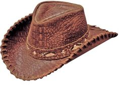 Croc Embossed Leather Cowboy Hat.......... Mens 5b7e24d4802c