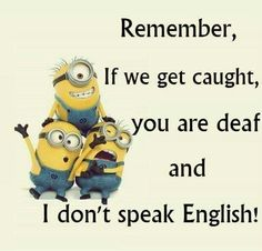 Funny Minion Quotes Of The WeekLove Minions? Check out all o f this Minions Stuff. Memes Humor, Funny Minion Memes, Minions Quotes, Funny Jokes, Hilarious, Minion Humor, Funny Shit, Minions Love, Minion Things