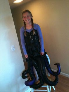 Homemade ursula costume all done in one night ursula homemade ursula costume diy solutioingenieria Image collections