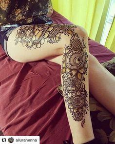 Henna Art Designs for Thai and Legs