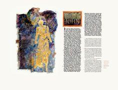 Saint John's Bible    Gospel of John  Frontispiece and Incipit