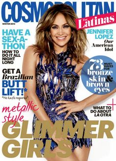 43d435ead35e Jennifer Lopez covers Winter 2013 issue of Cosmopolitan for Latinas  Jennifer Lopez Short Hair, Jennifer