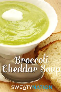 Classic Broccoli Cheddar Soup recipe lightened up to be healthy and made gluten-free!