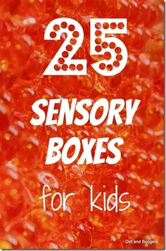 Sensory Box ideas....