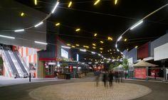 Watergardens Restaurant Precinct lighting design by Electrolight