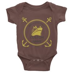 This short-sleeve baby onesie is soft, comfortable, and made of 100% cotton. It's designed to fit infants of all sizes, with a rib knit to give good stretch and a neckband ... #nautical
