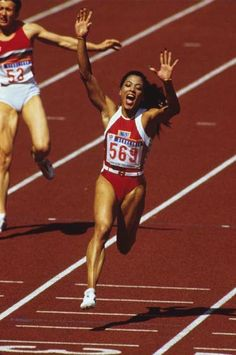 """Florence Griffith Joyner----She is considered the """"fastest woman of all time"""" based on the fact that the world records she set in 1988 for both the 100 metres and 200 metres still stand and have yet to be seriously challenged!!"""