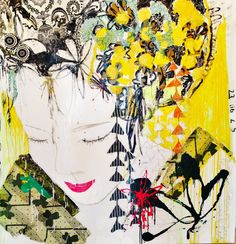mersuka dopazo - Google Search Collage Art, Mixed Media, Inspiration, Geisha, Paintings, Decor, Google Search, Parallel Parking, Inspiring Art