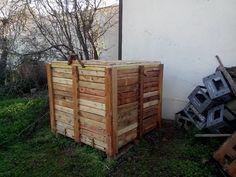 #Cubo #compost en #madera de #palet