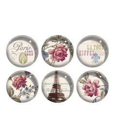 Look what I found on #zulily! 'La Tour Eiffel' Glass Magnet Set by Fringe Studio #zulilyfinds
