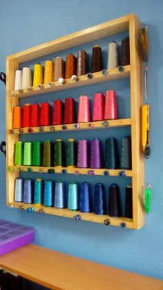 Sewing Room Design, Sewing Room Decor, Craft Room Decor, My Sewing Room, Sewing Rooms, Thread Storage, Sewing Room Storage, Sewing Room Organization, Craft Room Storage