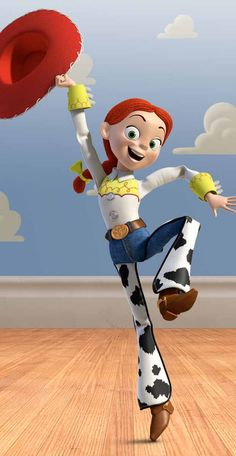 Jessie: A doll whose personality has been branded by manufacturers as bright & bubbly, is driven by a jilted reality to be desperately sad. (Toy Story 2, 1999, John Lasseter. Voiced by Joan Cusack).