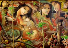 title unknown by Tam Austria (Filipino) Filipino Art, Filipino Culture, Beautiful Drawings, Beautiful Paintings, Philippine Art, Anna, New Artists, Art Pictures, Art Pics