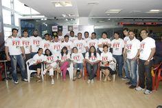 Group picture of the contestants of the the event.  August 2010. At Gold's Gym Bandra