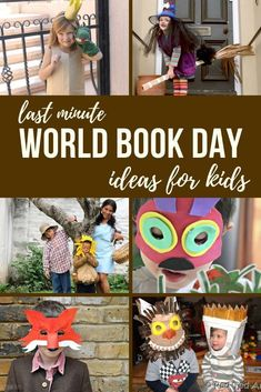 Need some quick and easy World Book Day costume ideas? Here are some great World Book Day Ideas for kids - some last minute, quick ideas & more involved. From a quick and clever hat, to easy masks and or the full costume idea! Party Activities, Fun Activities For Kids, Easy Crafts For Kids, Toddler Crafts, Creative Activities, Easy Costumes, Costume Ideas, Halloween Costumes, Robot Costume Diy