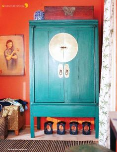 Turquoise Chinese cabinet furniture-home-decor-must-haves Oriental Furniture, Decor, Furniture, Oriental Interior, Chinese Cabinet, Asian Furniture, Painted Furniture, Asian Decor, Home Decor