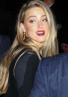 Boyish: Amber Heard attends the Met Gala after party in a more comfortable ensemble