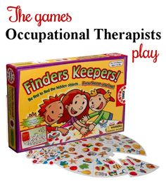 A great game to use for working on visual perceptual skills. Lots of ideas for adapting. Work on visual discrimination, visual closure, figure ground, manual and finger dexterity. Visit my blog at The Playful Otter to learn different ways to play this game.