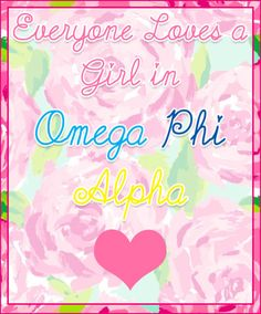 If you keep repinning this, please link back to the original source--me. Thanks. #OmegaPhiAlpha