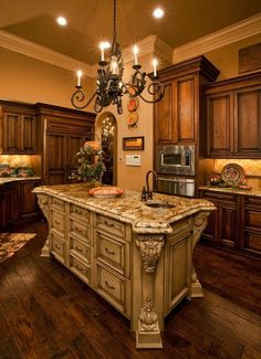 Tuscan kitchen Bentley Manor Custom Home Interior & Exterior Design Luxury Kitchens, Home Kitchens, Tuscan Kitchens, Dream Kitchens, Tuscan Kitchen Decor, Custom Kitchens, Home Interior, Interior And Exterior, Interior Design
