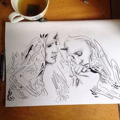 Twins 2 Twins, Female, Illustration, Art, Craft Art, Gemini, Kunst, Illustrations, Twin
