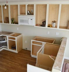 Ana White Build a Base Blind Corner Cabinet - Momplex Vanilla Kitchen Free and Easy DIY Project and Furniture Plans Building Kitchen Cabinets, Built In Cabinets, White Kitchen Cabinets, Diy Cabinets, How To Build Cabinets, Base Cabinets, Plywood Cabinets, Teal Kitchen, Kitchen Paint