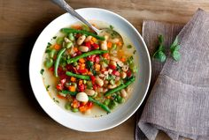 Three-Bean Soup: View this and hundreds of other vegetarian recipes in the @nytimes Eat Well Recipe Finder.