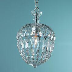 Reproduction Cut Crystal Basket Flush Mount Pendant - Shades of Light
