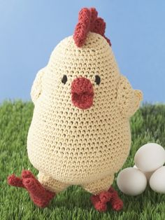 Free Pattern - Brighten up someone's day with this cute #crochet chicken!