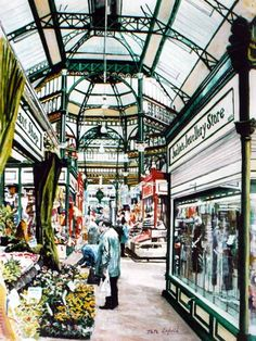 The late Victorian covered market in Bridgeford where Michael Morgan and his pal, Adrian, sold their first printed T-shirts. Leeds England, Yorkshire England, Yorkshire Dales, England And Scotland, West Yorkshire, Great Places, Places To See, Beautiful Places, Derelict Places