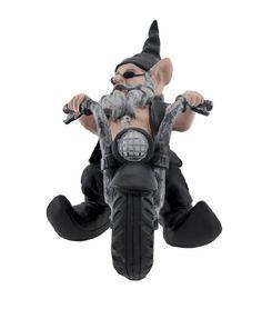'Gnoschitt Rides Again' Biker Garden Gnome on Motorcycle Statue 12 Inch http://bikeraa.com/gnoschitt-rides-again-biker-garden-gnome-on-motorcycle-statue-12-inch/