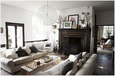 Shoot Factory {white rustic modern living room}
