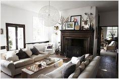white rustic modern living room