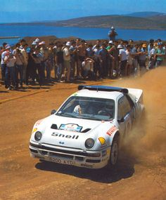 Stig Blomqvist in Acropolis Rally with his Ford RS200.