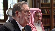 """Conference on religious persecution and forces migration. Elder Holland speaking at Windsor Castle. """"The Mormon Refugee Experience."""""""